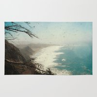 big sur Area & Throw Rugs featuring Big Sur - Jagged Edge by Jenndalyn