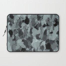 Black and Smokey Blue Pastels 3216 Laptop Sleeve