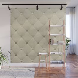 Cream Quilted Wall Mural