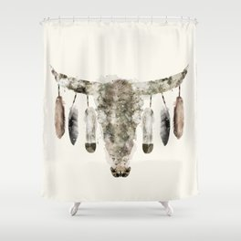 Cow Skull Shower Curtain