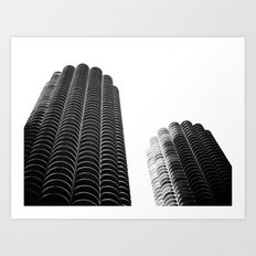 WHITEOUT: i miss you chicago Art Print