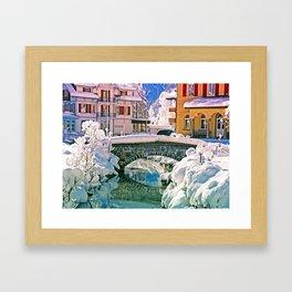 Winterdream in Kandersteg Swiss Framed Art Print