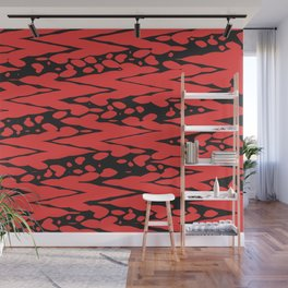Asymmetry collection: zig zag Wall Mural