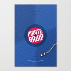 Pirate Radio poster (blue) Canvas Print