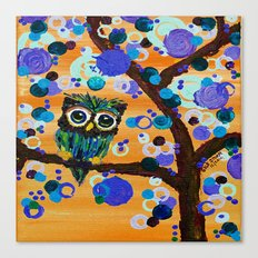 :: Sunset Gemmy Owl :: Canvas Print