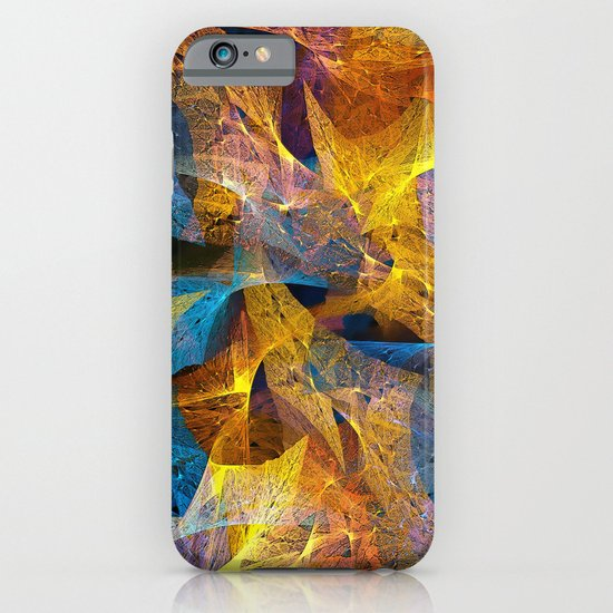 Gold & Blue Abstract iPhone & iPod Case