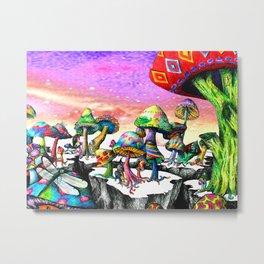 Mushroom Paradise Metal Print