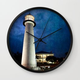 Lighthouse Blues Wall Clock