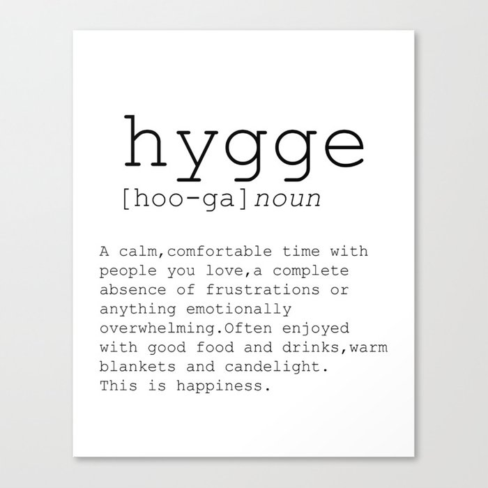 hygge definition romantic dictionary art print office decor