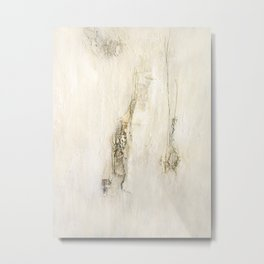 white struktur Metal Print