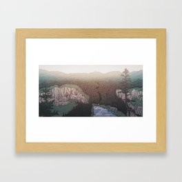 Hope Hymns Illustration Framed Art Print