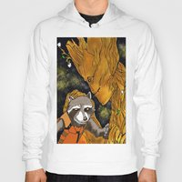 superheros Hoodies featuring We are Groot by Tiffany Saffle