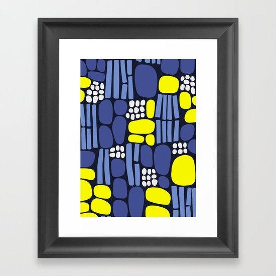 pebbles and sticks Framed Art Print