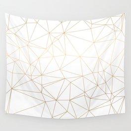 Geometric Gold Minimalist Design Wall Tapestry