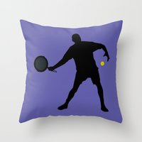 tennis Throw Pillows featuring TENNIS by INNOCENT DESIGNER