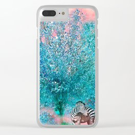 TREES AND ZEBRAS Clear iPhone Case