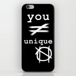 you do not equal unique (white) iPhone Skin
