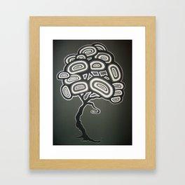 Ovoid Three Framed Art Print