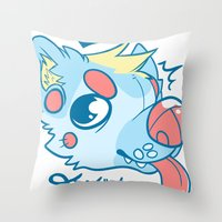 doge Throw Pillows featuring Drool Doge by Servy