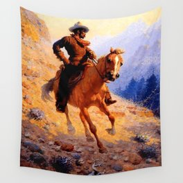 "William Leigh Western Art ""Looking For Strays"" Wall Tapestry"