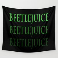 beetle Wall Tapestries featuring Beetle... by ReadThisVA