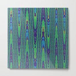 Sine Waves Abstract Watercolor Metal Print