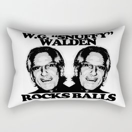 "W.G. ""Snuffy"" Walden Rocks Balls Rectangular Pillow"