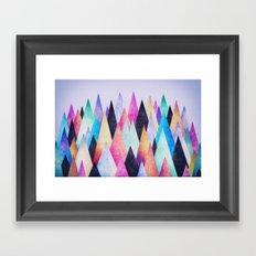 Colorful Abstract Geometric Triangle Peak Wood's  Framed Art Print