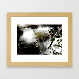 Cascades on Fall Creek in the Weminuche Wilderness, No. 2 of 2 Framed Art Print