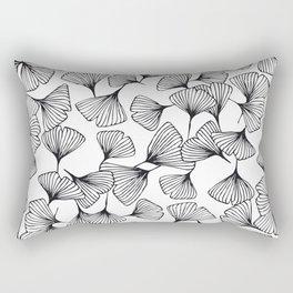 Botanical Outlines | Ginkgo wild Rectangular Pillow