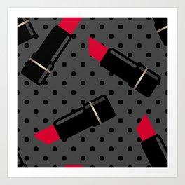Red lipstick 2 Art Print