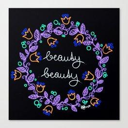 Beauty Beauty #2 Canvas Print