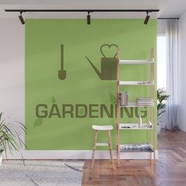I heart Gardening Wall Mural