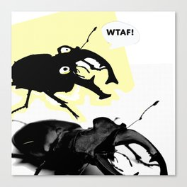 Beetle Bum Wtaf Canvas Print