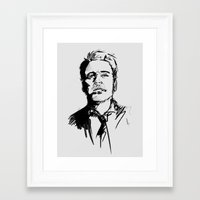 robert downey jr Framed Art Prints featuring Robert Downey Jr by charlotvanh