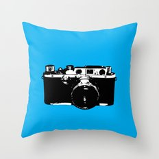 Leica in Blue Throw Pillow