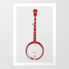 Minimalistic Banjo Art Print