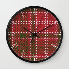 Red Kilt Tartan Wall Clock