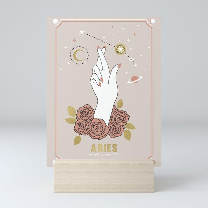 Aries Zodiac Series Mini Art Print