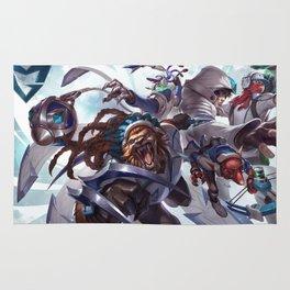 SSW Talon Rengar Thresh Twitch Singed Splash Art Wallpaper Official Artwork League of Legends Rug