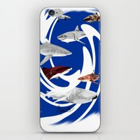 sharks iPhone & iPod Skins featuring Sharks. by Sylvie Heasman