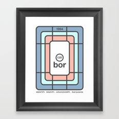 bor single hop Framed Art Print