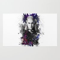 thranduil Area & Throw Rugs featuring Thranduil by Ryky