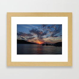 Sunset in Greece Framed Art Print