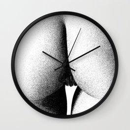 Abstract woman ink work Wall Clock