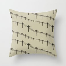 Metal Trees Throw Pillow