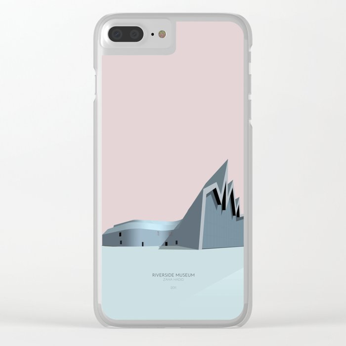 Riverside Museum Zaha Hadid Clear iPhone Case