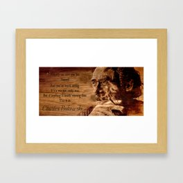 Charles Bukowski - wood - quote Framed Art Print