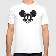 DEADMOUSE White MEDIUM Mens Fitted Tee