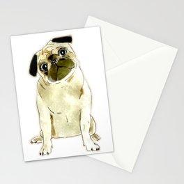 Sitting Pug Stationery Cards